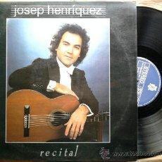 Discos de vinilo: JOSEP HENRIQUEZ*RECITAL*LP BCD 1987. Lote 35799835