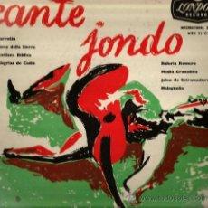 Discos de vinilo: LP 10 PULGADAS: CANTE JONDO : RAFAEL ROMERO (CANTAOR) + ANDRES HEREDIA ( GUITARRA) . Lote 35802585