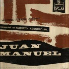 Discos de vinilo: LP 10 PULGADAS: JUAN MANUEL, CON ORQUESTA TEATRO ALBENIZ ( D. AUGUSTO ALGUERO ) . Lote 35802921