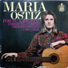 Discos de vinilo: MARÍA OSTIZ. POR TU LIBERTAD/ CORRE EL CAMINO/ PRONTO VOLVERÉ/ CADA LUGAR. HISPAVOX, ESP. 1968 EP. Lote 35803020