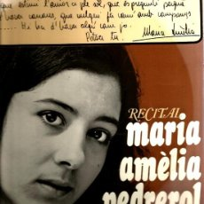 Discos de vinilo: LP 10 PULGADAS: MARIA AMELIA PEDREROL, DELS SETZE JUTGES : RECITAL . Lote 35803025