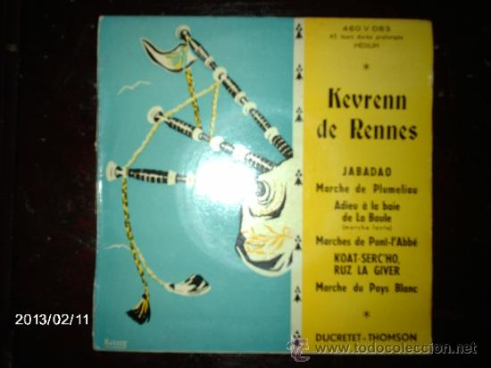 KEVRENN DE RENNES - JABADAO + 4 (Música - Discos de Vinilo - EPs - Étnicas y Músicas del Mundo)