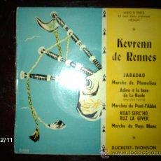 Discos de vinilo: KEVRENN DE RENNES - JABADAO + 4. Lote 35810079