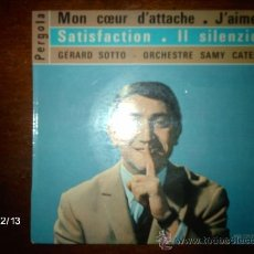 Discos de vinilo: GERARD SOTO - SAMY CATES ET SON ORCHESTRE / MON COEUR D´ATTACHE + 3. Lote 35886463