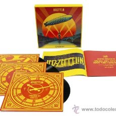 Discos de vinilo: 3 LPS BOX LED ZEPPELIN CELEBRATION DAY VINILO. Lote 46974656
