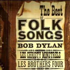 Discos de vinilo: LP BEST FOLK SONGS ( BOB DYLAN, JOHNNY CASH, PETE SEEGER, THE BROTERS FOUR,. Lote 35820340