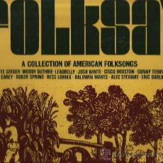Discos de vinilo: LP FOLKSAY - A COLLECTION OF AMERICAN FOLKSONGS ( PETE SEEGER, WOODY GUTHRIE, LEADBELLY,JOSH WHITE . Lote 35820379
