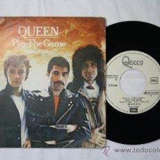 Discos de vinilo: SINGLE QUEEN - PLAY THE GAME/ A HUMAN BODY - VERSION ESPAÑOLA - EMI ODEON DEPOSITO 1980. Lote 35851561