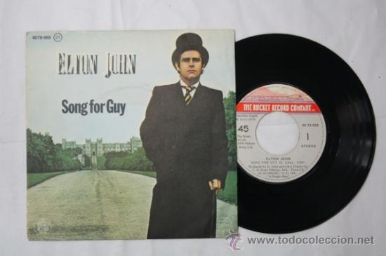 SINGLE ELTON JOHN - SONG FOR GUY/ LOVESICK - FONOGRAM ESPAÑA DEPOSITO 1979 (Música - Discos - Singles Vinilo - Pop - Rock - Extranjero de los 70)