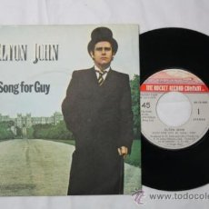Discos de vinilo: SINGLE ELTON JOHN - SONG FOR GUY/ LOVESICK - FONOGRAM ESPAÑA DEPOSITO 1979. Lote 55316554