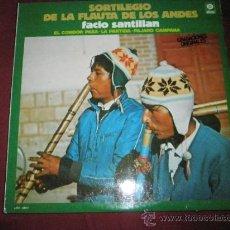 Discos de vinilo: DISCO-LP-VINILO-SORTILEGIO DE LA FLAUTA DE LOS ANDES-FACIO SANTILLÁN-NUEVO.. Lote 35938440
