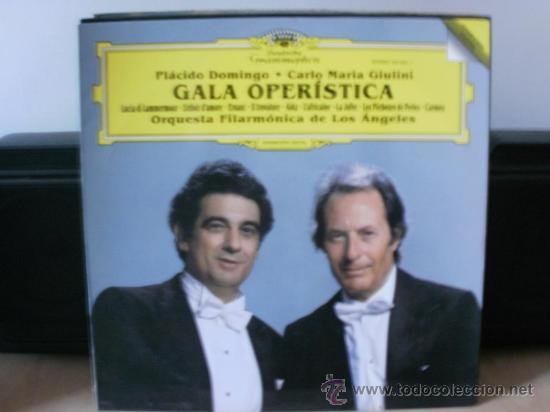 GALA OPERISTICA PLACIDO DOMINGO Y CARLO MARIA GIULINI (Música - Discos - LP Vinilo - Clásica, Ópera, Zarzuela y Marchas)