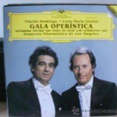 Discos de vinilo: GALA OPERISTICA PLACIDO DOMINGO Y CARLO MARIA GIULINI. Lote 35821748