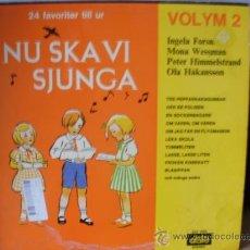 Discos de vinilo: NU SKA VI SJUNGA MUSICA SUECA INFANTIL Y TRADICIONAL. Lote 35821808