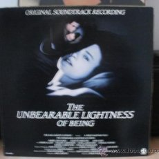 Discos de vinilo: THE UNBEARABLE LIGHTNESS OF BEING BANDA SONORA DE LA PELICULA 2. Lote 35821844