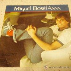 Discos de vinilo: MIGUEL BOSÉ – ANNA / LUCKY GUY HOLANDA,1978 CBS. Lote 35822547