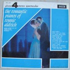 Discos de vinilo: RONNIE ALDRICH - ROMANTIC PIANOS - LP DECCA FASE 4 ESPECTACULAR. Lote 35833411