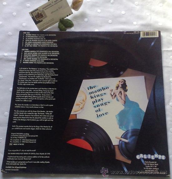 Discos de vinilo: AÑO 1990.- THE MAMBO KINGS OF LOVE - Foto 4 - 35826300