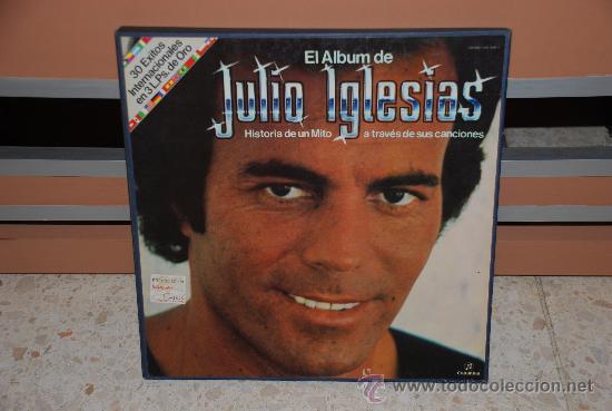 DOBLE DISCO VINILO LP JULIO IGLESIAS (Música - Discos - LP Vinilo - Solistas Españoles de los 70 a la actualidad)