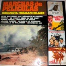 Discos de vinilo: ORQUESTA HERMAN HELMER - MARCHAS DE PÉLICULA - IMPACTO 1.976. Lote 189327845