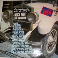 Discos de vinilo: ENOCH LIGTH & THE LIGTH BRIGADE - LOS GRANDES EXITOS DE LOS AÑOS 30 Y 40 - DOBLE HIPAVOX 1.975. Lote 35860326