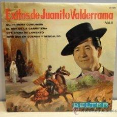 Discos de vinilo: ÉXITOS DE JUANITO VALDERRAMA. VOL II. SINGLE 1964. SELLO BELTER. CALIDAD NORMAL ***/***. Lote 35862791