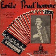 Discos de vinilo: EMILE PRUD'HOMME. LE CHA-CHA-CHA (EP AÑOS CINCUENTA). Lote 35867702