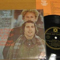 Discos de vinilo: SIMON GARFUNKEL - BRIDGE OVER TROUBLED WATER - SINGLE FLEXI DISC EINE PROBE - RARE PROMO - N MINT. Lote 35876775