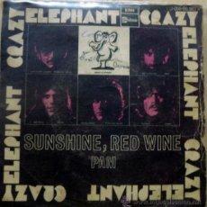 Discos de vinilo: CRAZY ELEPHANT. SUNSHINE, RED WINE/ PAM. EMI-STARTESIDE, ESP. 1969 SINGLE. Lote 35881110