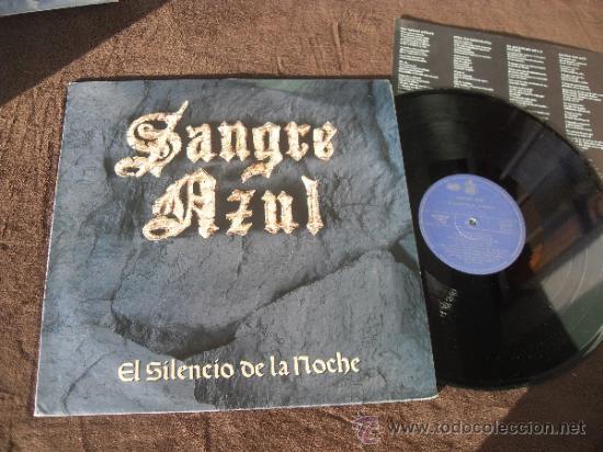 SANGRE AZUL LP SILENCIO DE LA NOCHE MADE IN SPAIN 1989 (Música - Discos - LP Vinilo - Heavy - Metal)