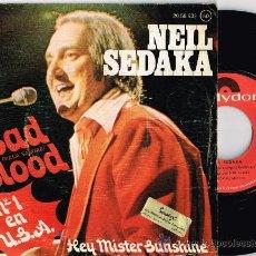 Discos de vinilo: NEIL SEDAKA - BAD BLOOD (MALA SANGRE) / HEY MISTER SUNSHINE (1975). Lote 35894124