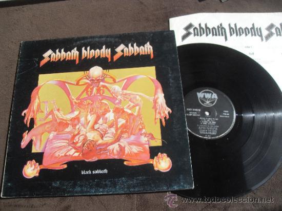 BLACK SABBATH LP SABBATH BLOODY SABBATH MADE IN ENGLAND 1973 (Música - Discos - LP Vinilo - Heavy - Metal)
