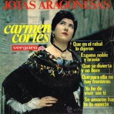Discos de vinilo: CARMEN CORTÉS - JOTAS ARAGONESAS - EP 1965. Lote 121010407