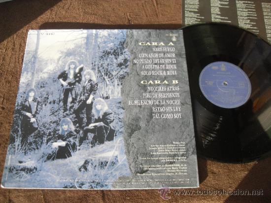 Discos de vinilo: SANGRE AZUL LP Silencio de la noche Made in Spain 1989 - Foto 2 - 35889284