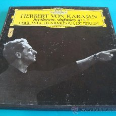 Discos de vinilo: HERBERT VON KARAJAN DIRECTOR DE LA ORQUESTA FILARMONICA DE BERLIN, BEETHOVEN SINFONIAS Nº 8 - 9,. Lote 35933597