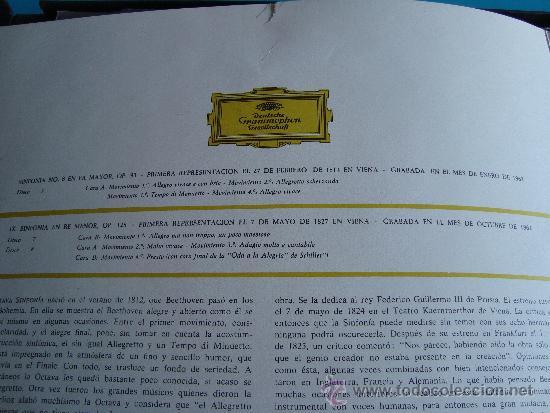 Discos de vinilo: HERBERT VON KARAJAN DIRECTOR DE LA ORQUESTA FILARMONICA DE BERLIN, BEETHOVEN SINFONIAS Nº 8 - 9, - Foto 2 - 35933597