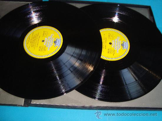 Discos de vinilo: HERBERT VON KARAJAN DIRECTOR DE LA ORQUESTA FILARMONICA DE BERLIN, BEETHOVEN SINFONIAS Nº 8 - 9, - Foto 5 - 35933597