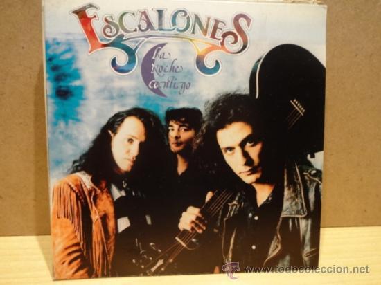 ESCALONES. LA NOCHE CONTIGO. SINGLE 1992 PROMOCIONAL. SELLO MAX MUSIC. IMPECABLE. ****/**** (Música - Discos - Singles Vinilo - Grupos Españoles de los 90 a la actualidad)