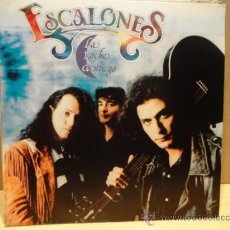 Discos de vinilo: ESCALONES. LA NOCHE CONTIGO. SINGLE 1992 PROMOCIONAL. SELLO MAX MUSIC. IMPECABLE. ****/****. Lote 35940368