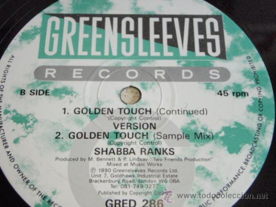 Discos de vinilo: SHABBA RANKS & OTROS ( GOLDEN TOUCH 4 VERSIONES ) ENGLAND-1990 MAXI45 GREENSLEEVES RECORDS - Foto 3 - 35945584