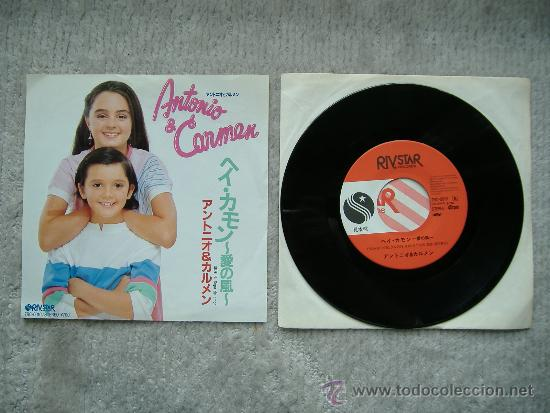 Discos de vinilo: ANTONIO Y CARMEN - HEY COME ON - SOPA DE AMOR - SINGLE - CARMEN MORALES - Foto 1 - 35949869