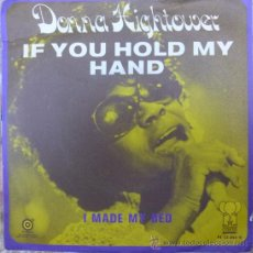 Discos de vinilo: DONNA HIGHTOWER. IF YOU HOLD MY HAND/ I MADE MY BED. PINK ELEPHANT, USA 1972 SINGLE. Lote 35949959
