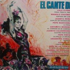 Discos de vinilo: EL CANTE DE LOLA FLORES,MANOLO ESCOBAR,JUANITA REINA ,PEPE MARCHENA,ANTOÑITA MORENO.... Lote 35976487