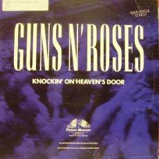 Discos de vinilo: GUNS N´ROSES-KNOCKIN ON HEAVENS DOOR MAXI SNGLE VINILO1992 SPAIN. Lote 35976895