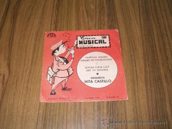 ORQUESTA HITA CASTILLO - VALENCIA MAMBO (Música - Discos de Vinilo - EPs - Orquestas)