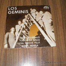 Discos de vinilo: LOS GEMINIS - LABIOS DE PETALO. MUY RARO. Lote 35982717
