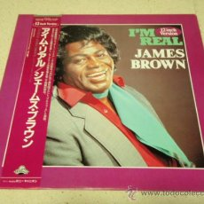 Discos de vinilo: JAMES BROWN ( I'M REAL - REAL - TRIBUTE ) 1988-JAPAN MAXI45 SCOTTI BROS 'ESPECIAL COLECCION'. Lote 35987384