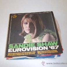 Discos de vinilo: SANDIE SHAW EUROVISION 1967 MARIONETAS EN LA CUERDA. Lote 35987445