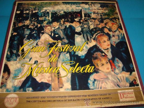 COLECCIÓN DISCOS LPS, GRAN FESTIVAL DE LA MÚSICA SELECTA, DISCOTECA DE SELECCIONES RCA (Música - Discos - LP Vinilo - Clásica, Ópera, Zarzuela y Marchas)