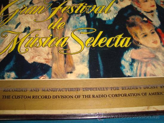 Discos de vinilo: COLECCIÓN DISCOS LPs, GRAN FESTIVAL DE LA MÚSICA SELECTA, DISCOTECA DE SELECCIONES RCA - Foto 2 - 35988223